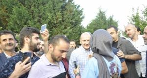 Trabzonlular Bakan Soylu'yu bağrına bastı
