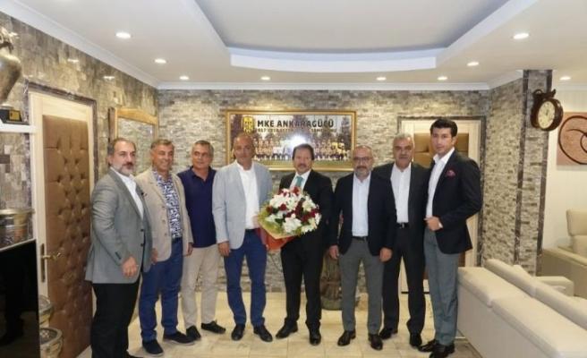 """Gençlerbirliği'nden MKE Ankaragücü'ne """"Hayırlı olsun"""" ziyareti"""