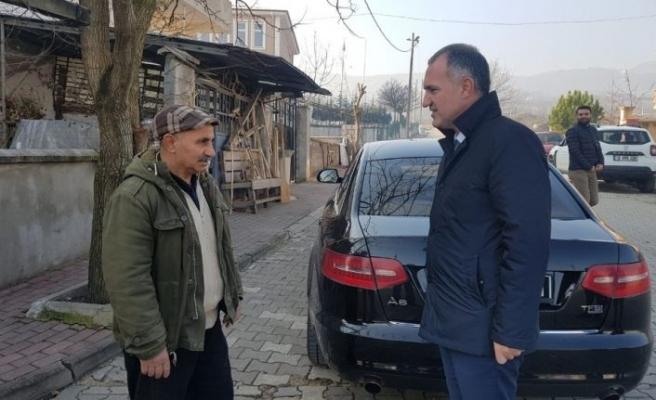 Başkan Taban'dan mahalleyi temizleyen gönüllü vatandaşa ziyaret