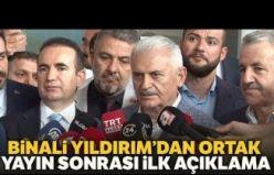 """Binali Yıldırım """"Yayının Ne Getirip Ne Götürdüğü İstanbulluların Taktiridir"""""""