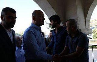 Bakan Soylu, Mardin'de sivil şehit yakınları...