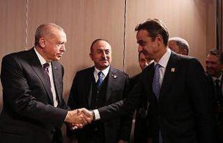 Cumhurbaşkanı Erdoğan, Yunanistan Başbakanı Miçotakis...