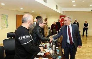 Başkan Dursun gazetecilerle buluştu