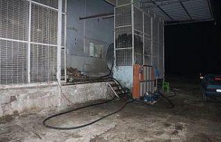 Kula'da 4 ton kaçak mazot ele geçirildi