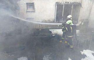 Depoda çıkan yangın kısa sürede söndürüldü