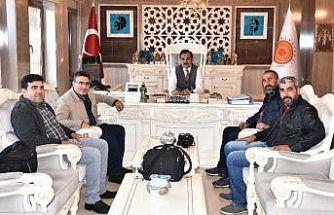 Başkan Çoban, gazetecileri ağırladı