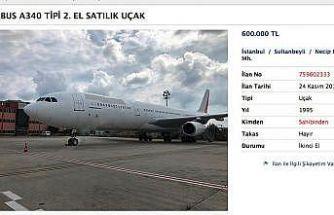 Atatürk Havalimanı'nda sahibinden satılık yolcu uçağı
