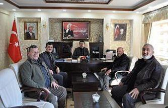 Çatalçeşme Köyü Derneği yönetiminden Kaymakam Coşkun'a ziyaret
