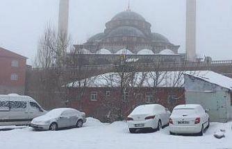 Karlıova'da kar etkili oldu