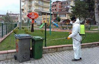 Körfez'de dezenfekte ekipleri yoğun çalışıyor