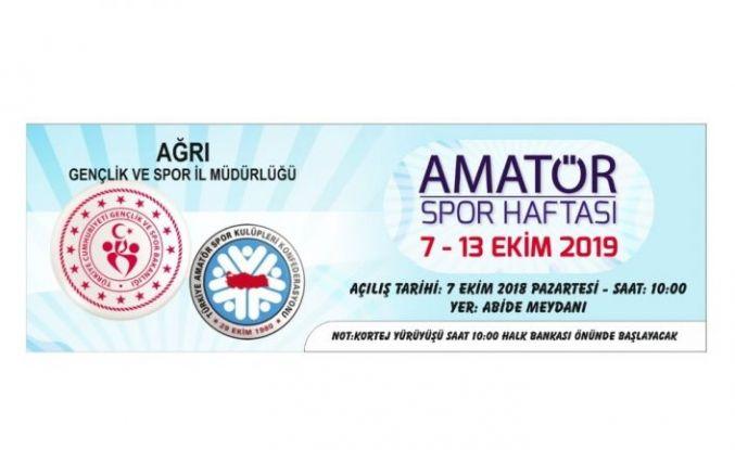 Ağrı'da Amatör Spor Haftası Etkinlikleri başlıyor
