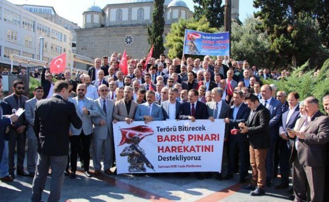Samsun Milli İrade Platformu'ndan Barış Pınarına destek açıklaması